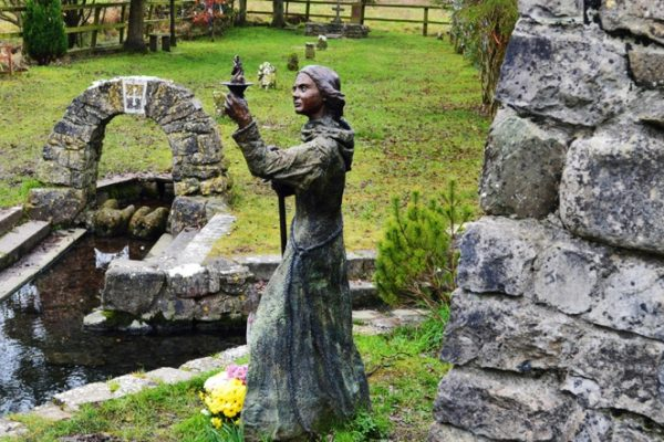 The statue of St. Brigid by sculptor Annette McCormack